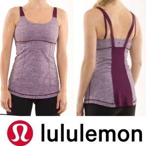 LULULEMON ACTIVE STRENGTH SIZE 4 MAUVE TANK